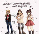 Anime Commissions (OPEN/ Dual Payment)