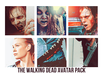 The Walking Dead avatar pack by Madhatter62