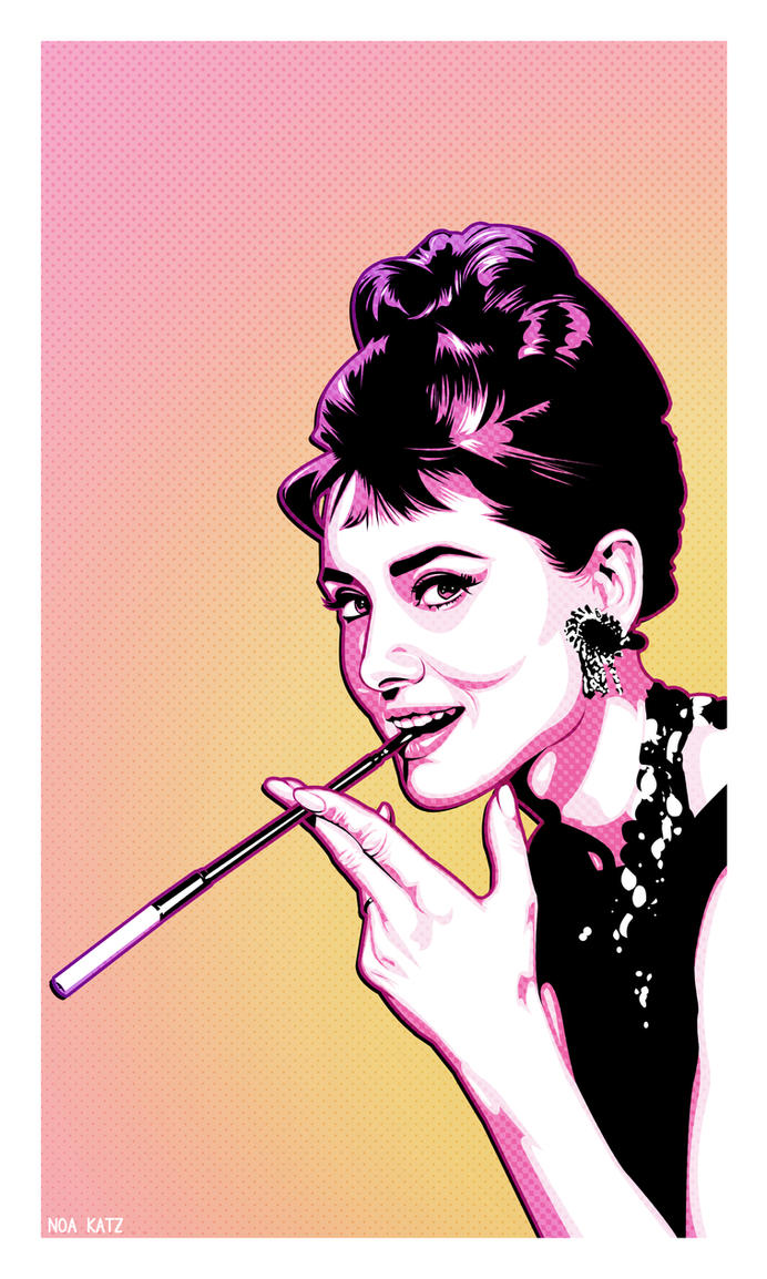 Audrey Hepburn- pop art by noapc on DeviantArt