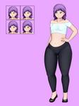 Violet Character Sprite