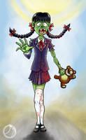 Cute little Zombie Girl by ammerseearts