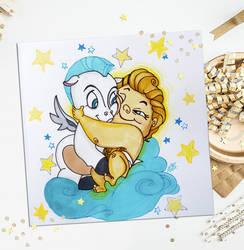 Hercules and Pegasus by Leliann