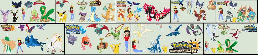 All Of Anna's Pokemon Teams so far