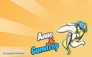 Anno and Gumdrop background by SilverBlazeBrony