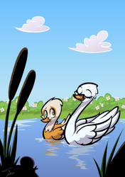 The Swan in the Pond by SilverBlazeBrony