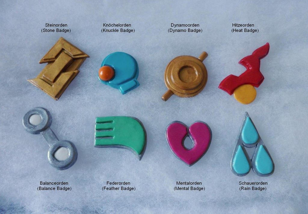 Hoenn Gym Badges by AidaSechem