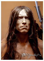 1:1 Arnold Schwarzenegger Conan The Barbarian WIP by Pedro-Moretto