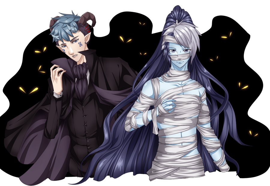 Xedron and Nicor by naoguiarts