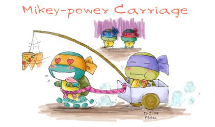 TMNT: Mikey-power Carriage by MZ15