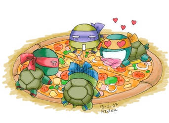 TMNT : Pizza Time by MZ15