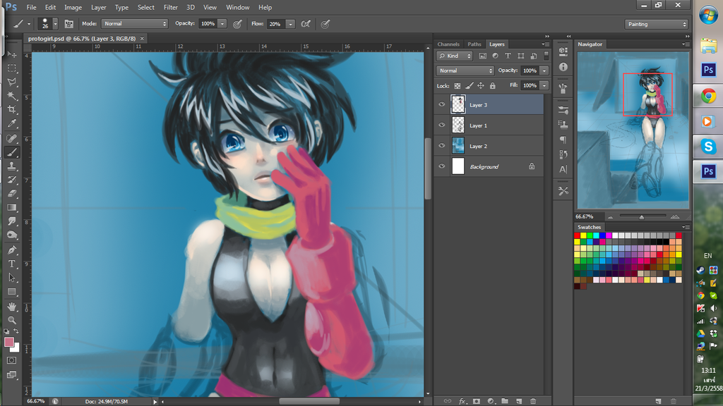 WIP Protogirl by MZ15