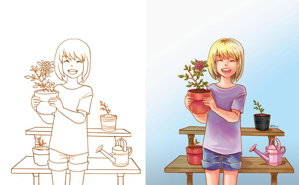 Gardening Girl by MZ15