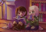Art trade: Chara and Asriel