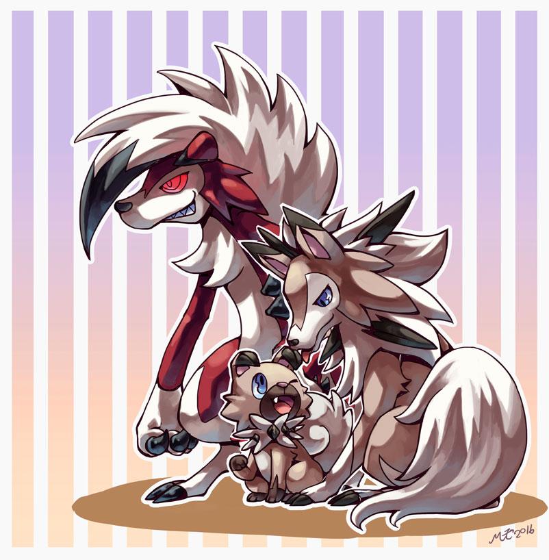 """""""Rockruff and Lugarugan"""" by MZ15 : pokemon"""