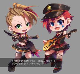[commission] Natsuki + Julia