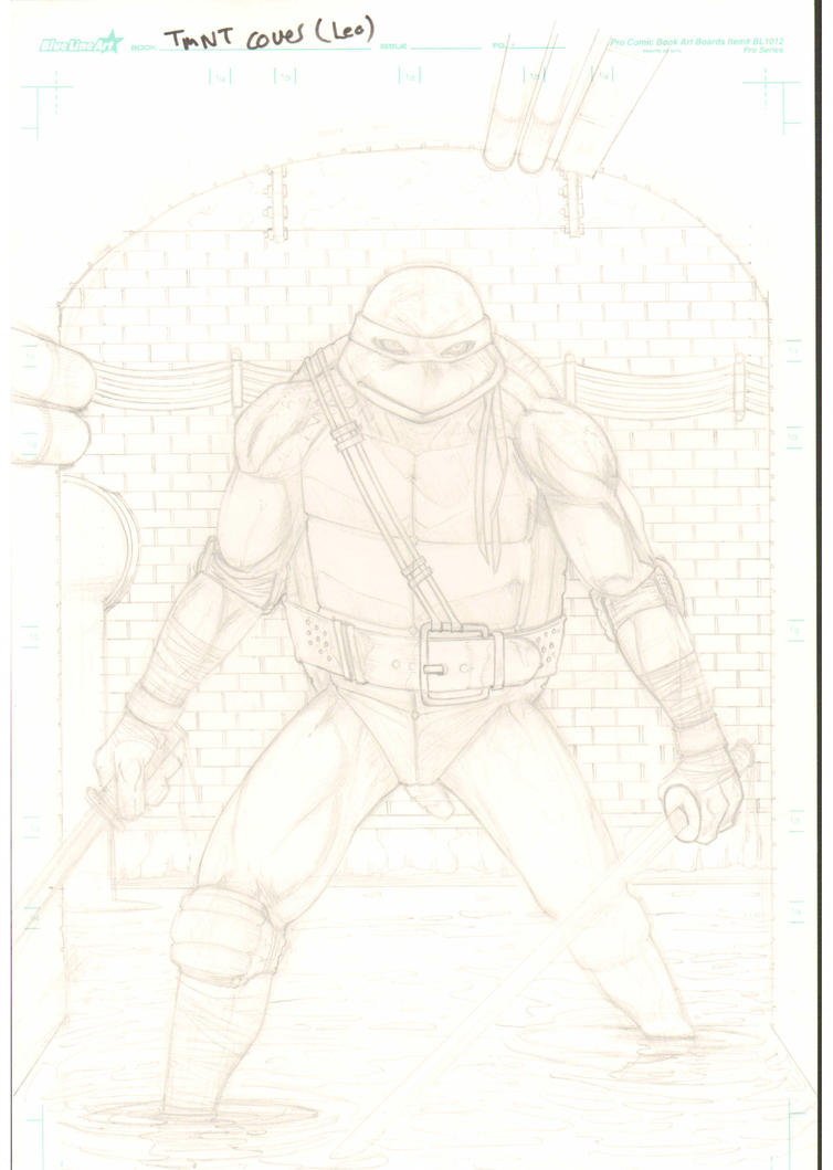 Tmnt Leo pencils by JFKART