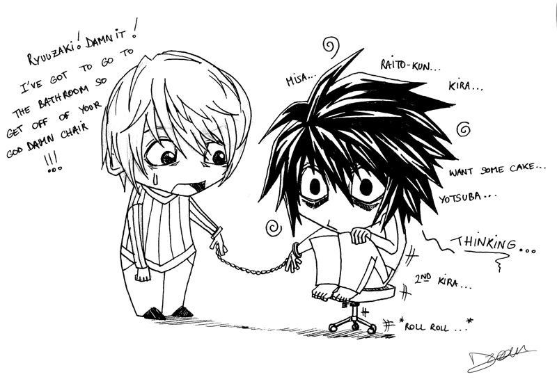 death note light and l chibi - photo #37