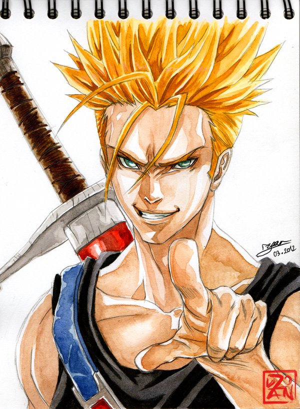 Badass Trunks Super Saiyajin by Dzoan