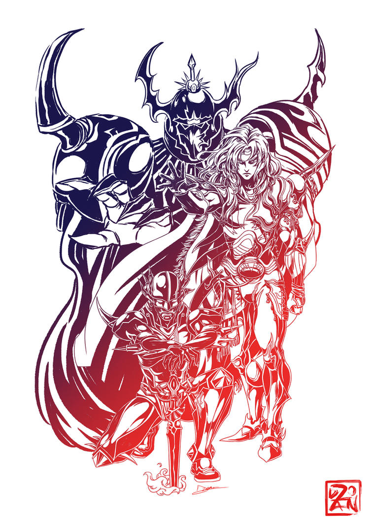 Final Fantasy IV - The Fratricidal Fight by Dzoan