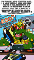 Koopa as a 1970's radio DJ