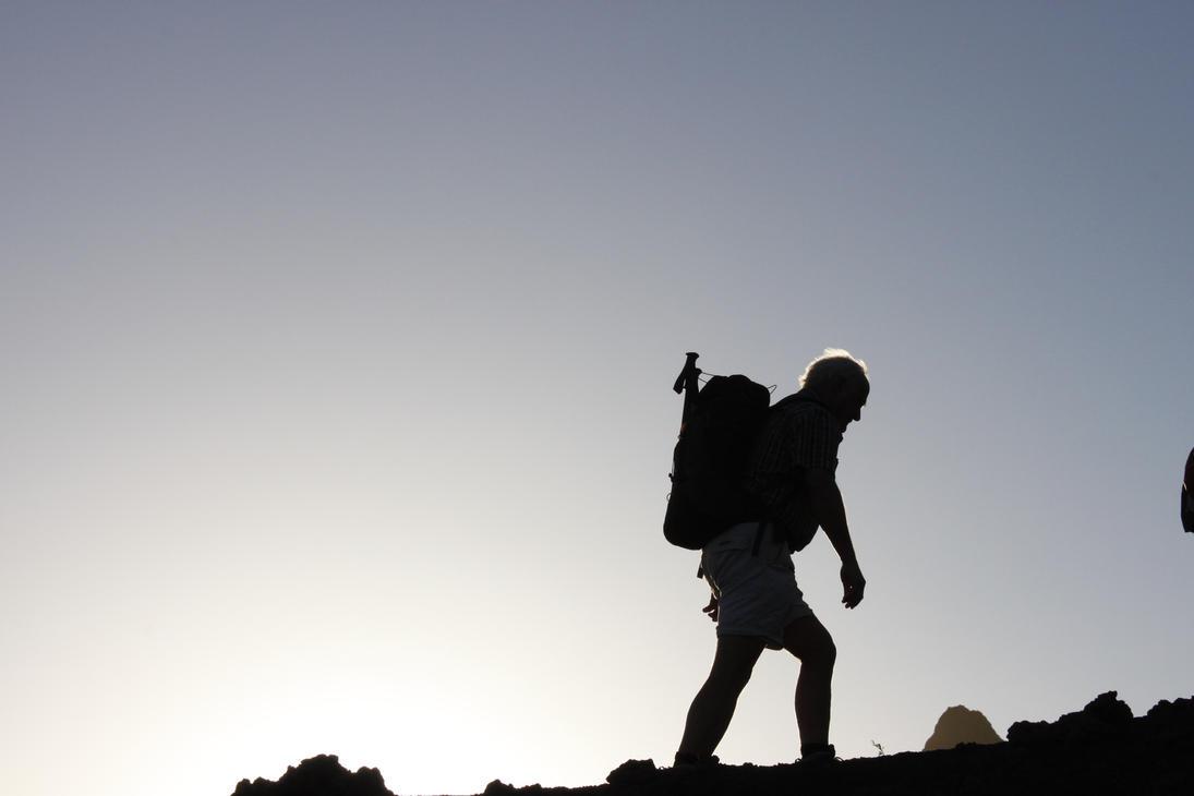 hiking silhouette desktop wallpaper - photo #11