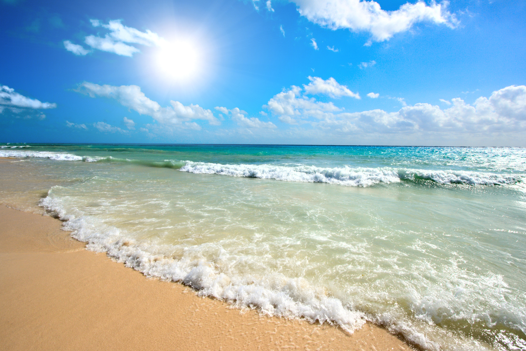 Pictures of Sunny Beach in Mexico