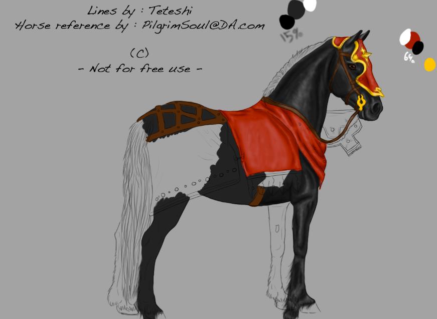 Medieval War Horse by ilovebeer08 on DeviantArt