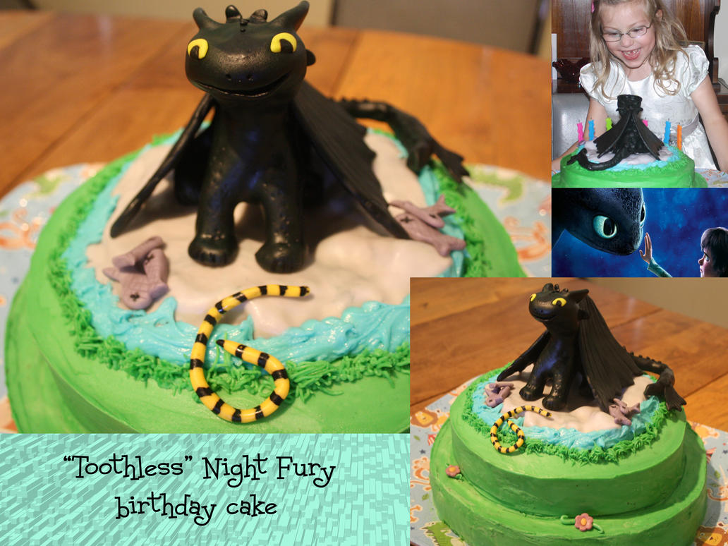 Toothless The Night Fury Dragon Birthday Cake D By Mab Overthrown