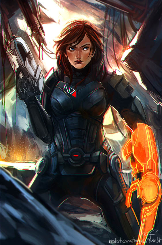 Commander Shepard by kou-chann