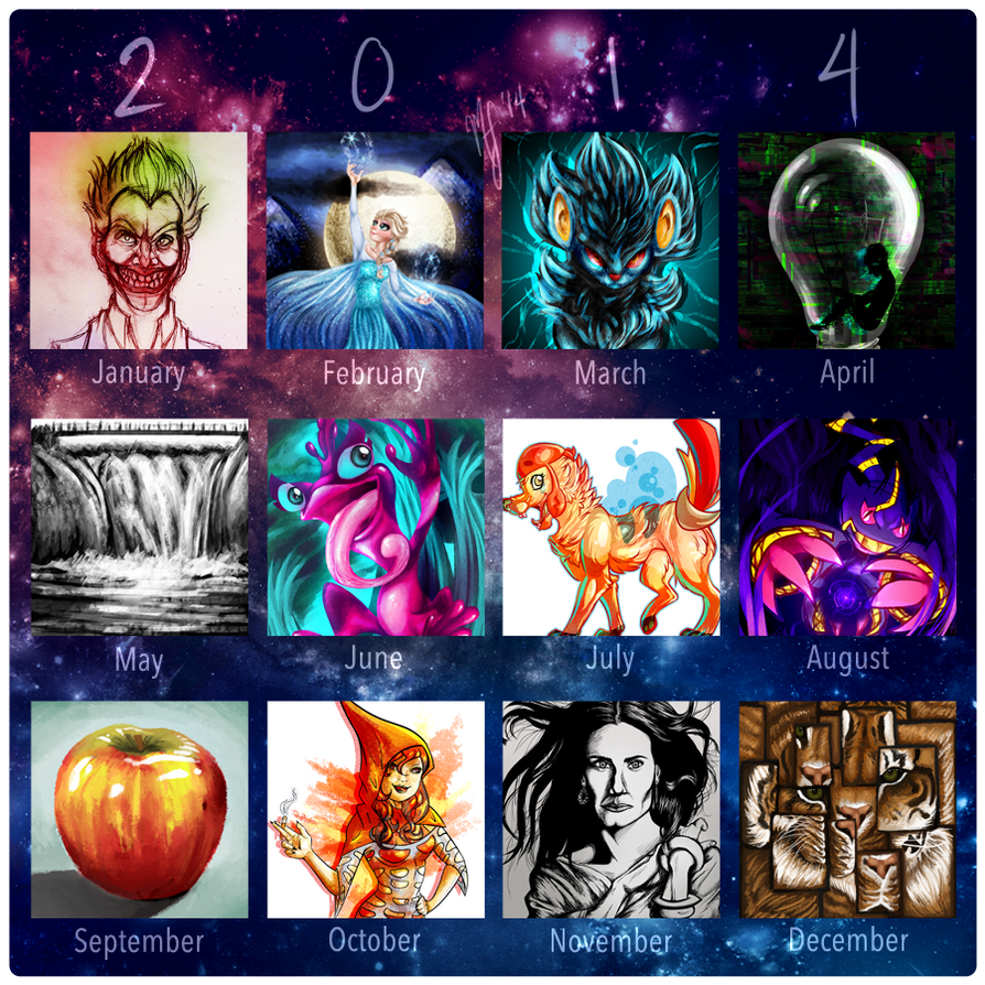 2014 Summary of Art by FrozenFlights