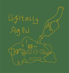 Digtally Aged T-Shirt Design