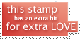 Extra Love Stamp by rocksicle