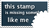 Something Missing Stamp by rocksicle