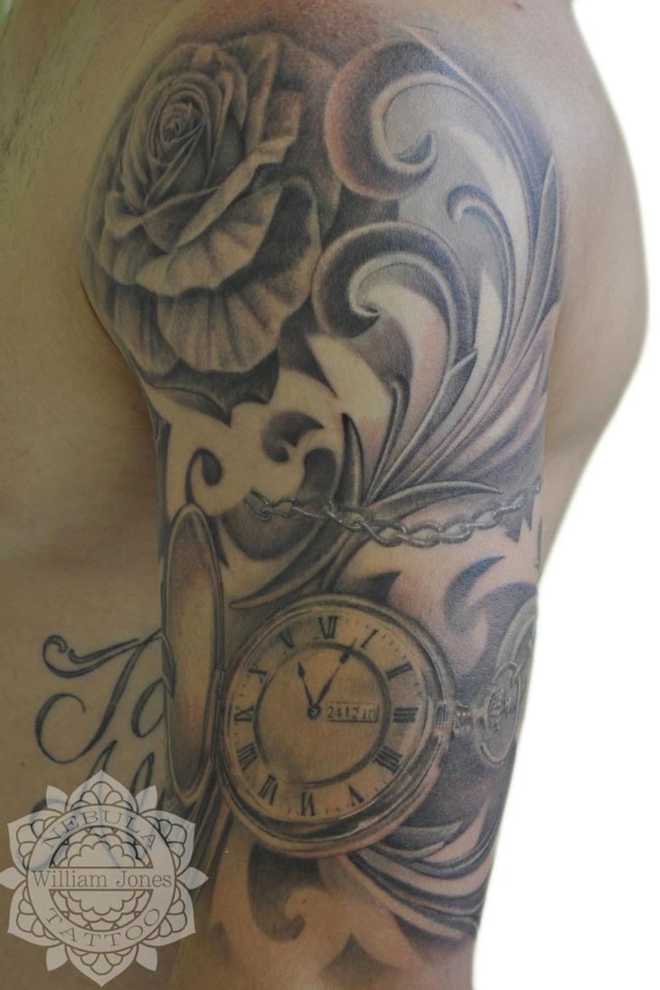 Pocket watch tattoo by nebulatattoo on deviantart for Pocket watch tattoo
