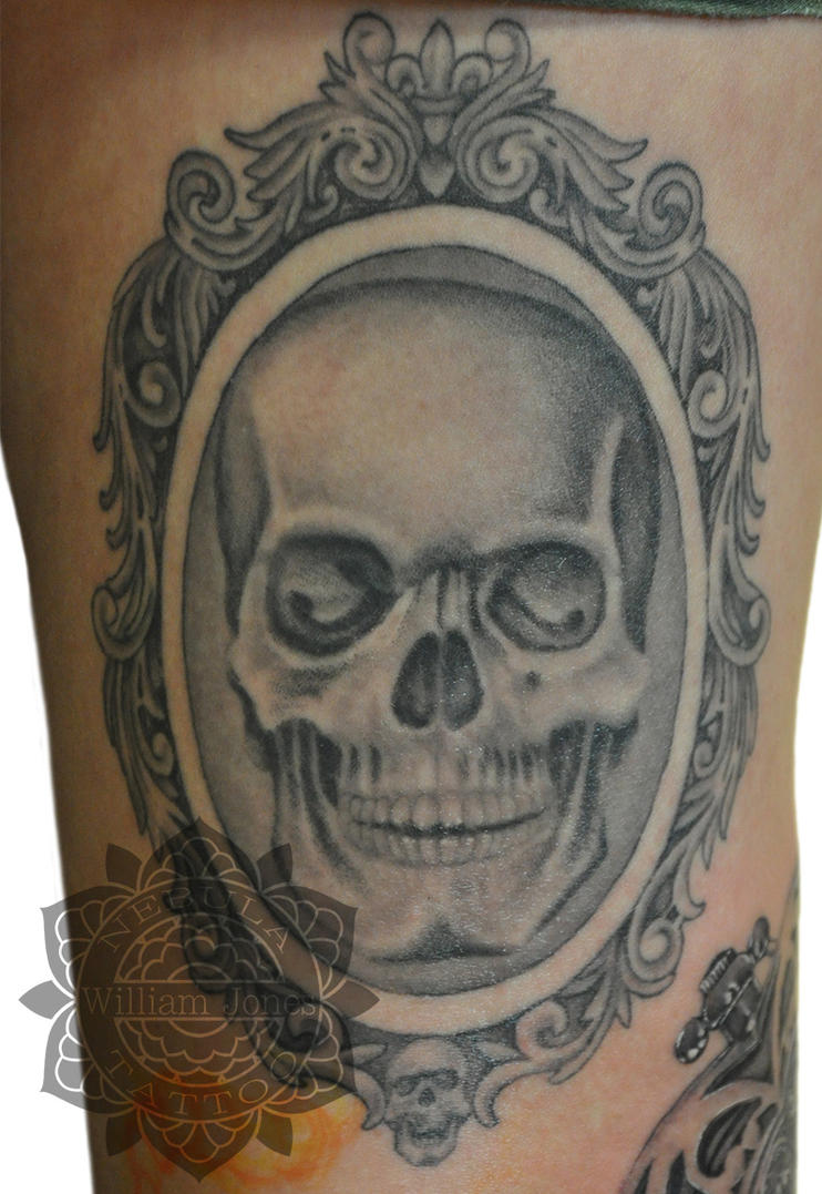 Framed Skull Tattoo by nebulatattoo on DeviantArt