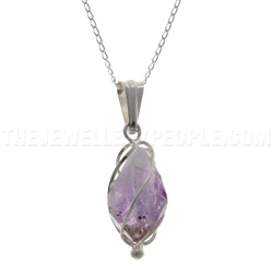 Amethyst Silver Cage Pendant by DayDreamPrincess