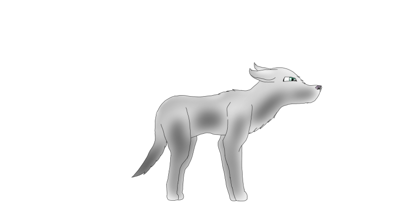 Shy Wolf by Sirenpaw23