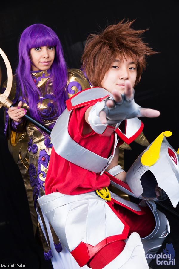 Saori and Seiya cosmo by Tamy-chan-tsuki