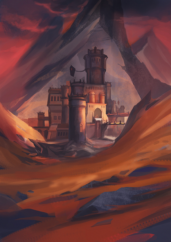 Red Sky Castle by Mirchaz