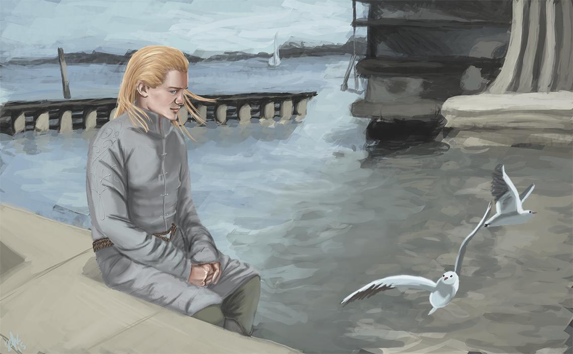 Art Trade: White Gulls of Pelargir by Sefikichi