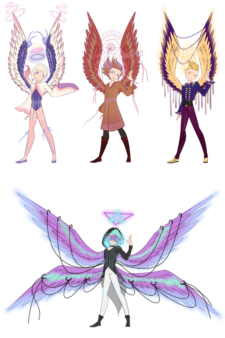 [2/4 AUCTION] Angel batch by ghosty-doll-adopts