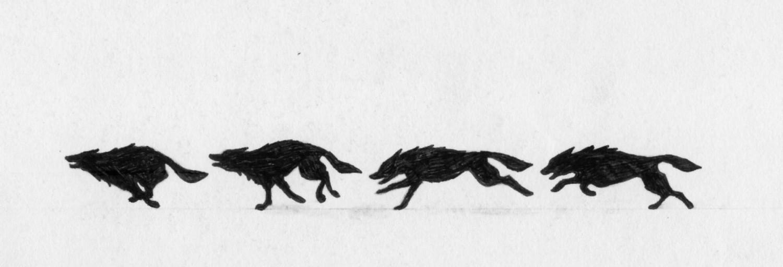 Running Wolf by Vargablod