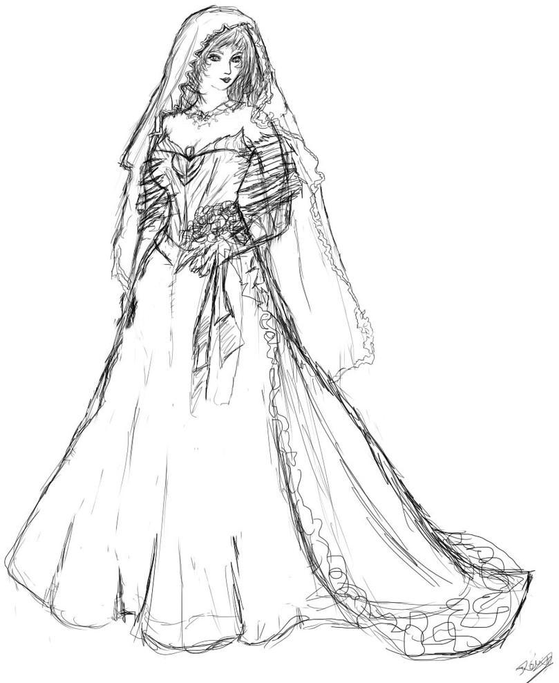 Wedding Dress (copyrighted) by Reveena
