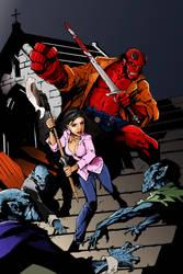 Hellboy X Buffy The Vampire Slayer by Echudin