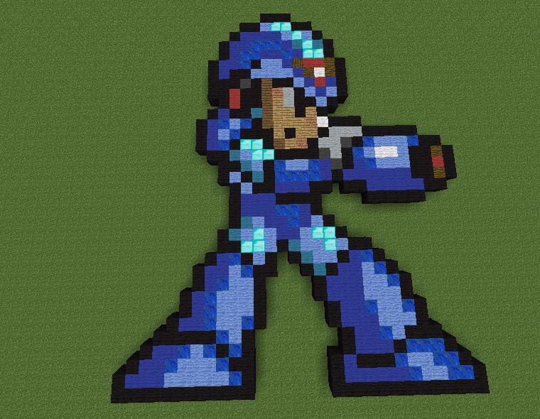 megaman x pixel art