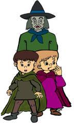Puddleglum, Eustace and Jill by omcgeachie