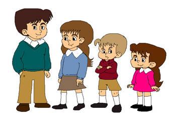 The Pevensie Children (Re-do) by omcgeachie