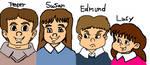 The Pevensie Children (Re-do-3) by omcgeachie