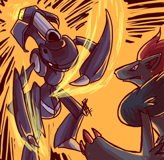 Art Trade: Genesect vs Zoroark by ky-nim on DeviantArt