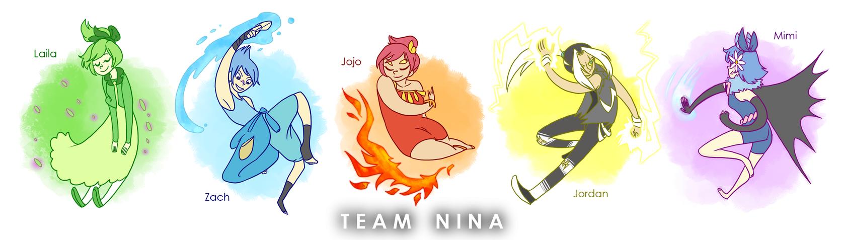 White Nuzlocke: Team Picture 1 by ky-nim